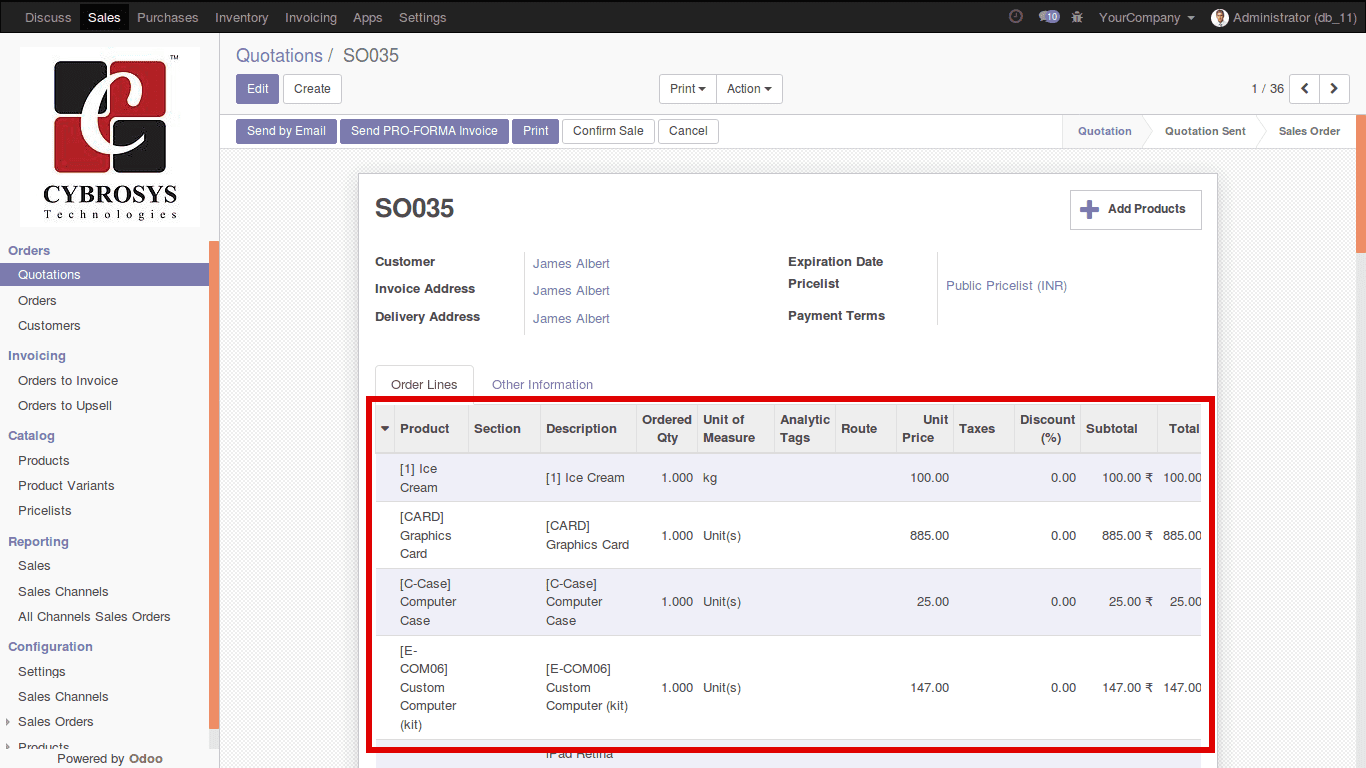adding multiple products to quotation pro