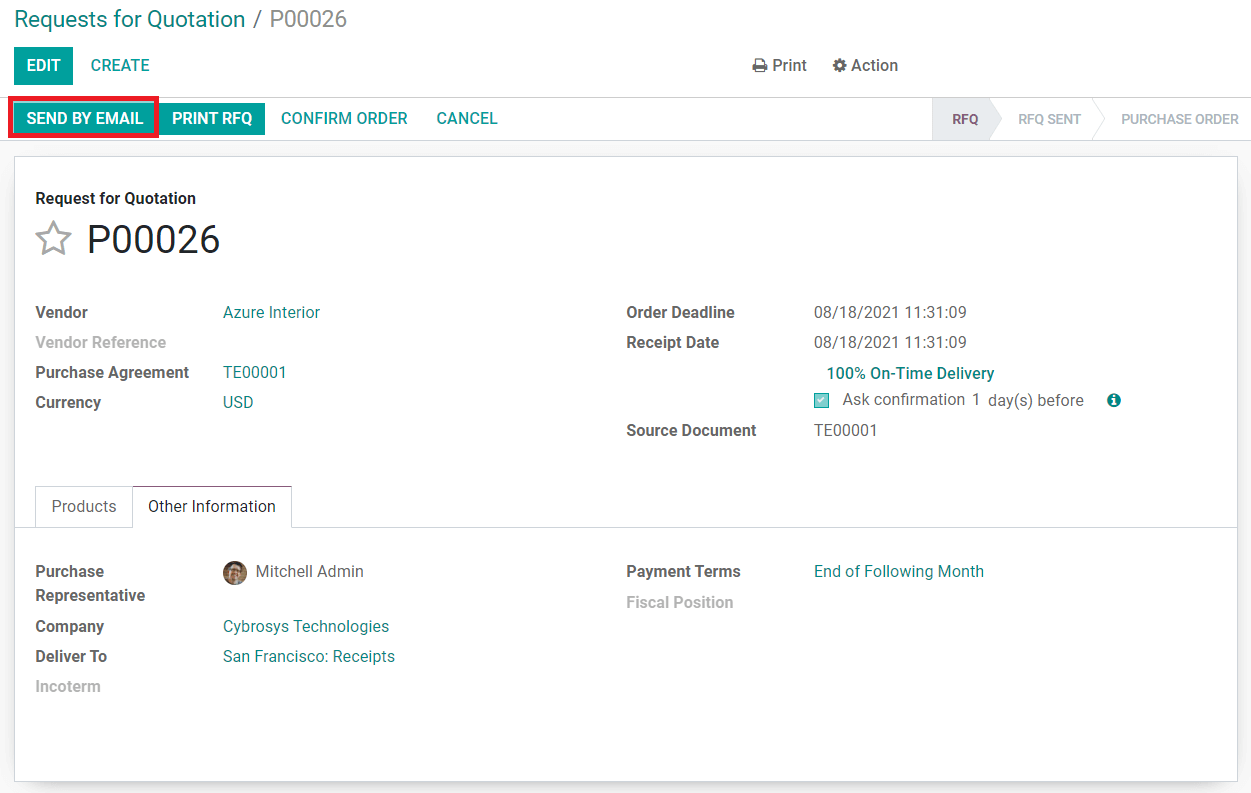 how-to-create-a-request-for-quotation-in-the-odoo-purchase-module