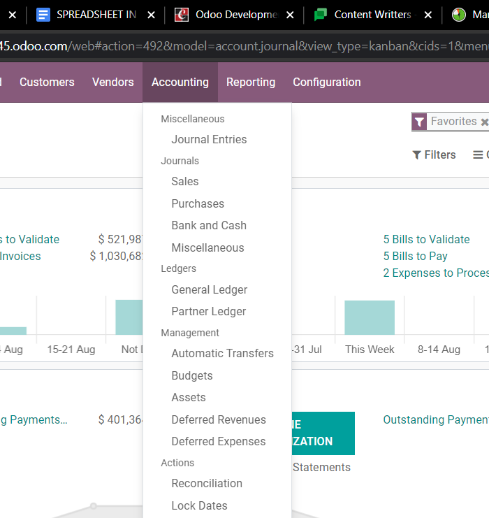 role-of-spreadsheets-in-odoo-accounting-module