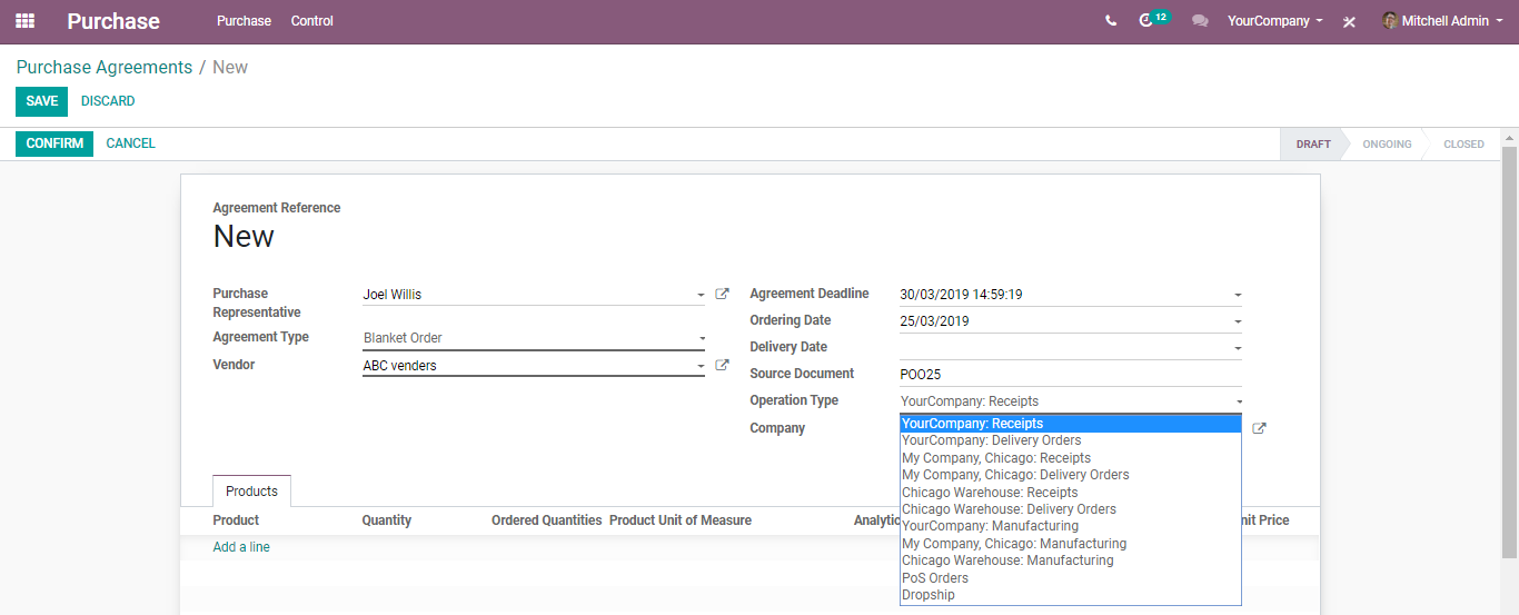 odoo-purchase-management