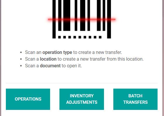 Odoo Barcode App