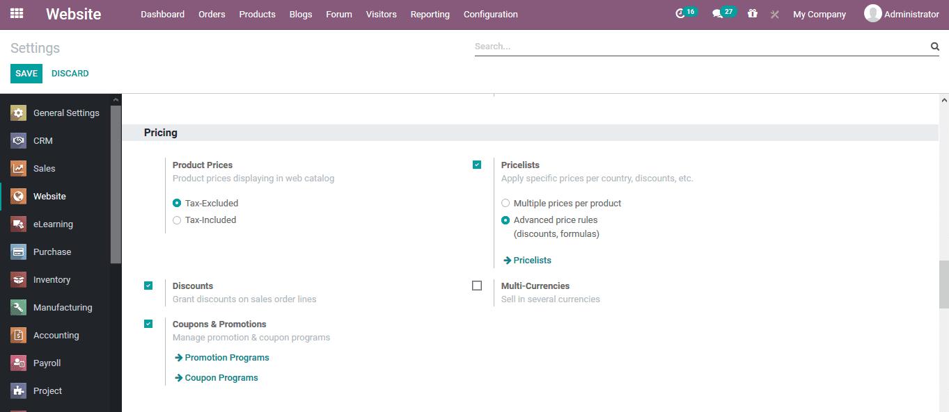 odoo-e-commerce