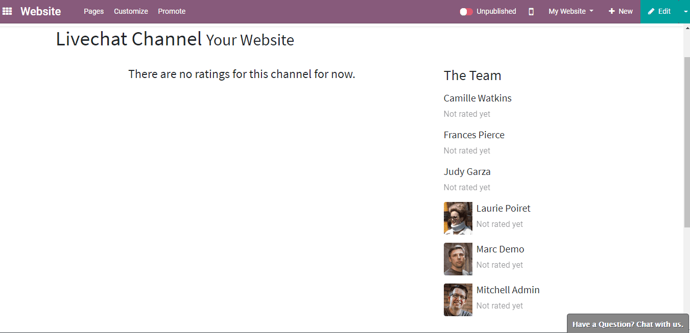 Odoo Live Chat