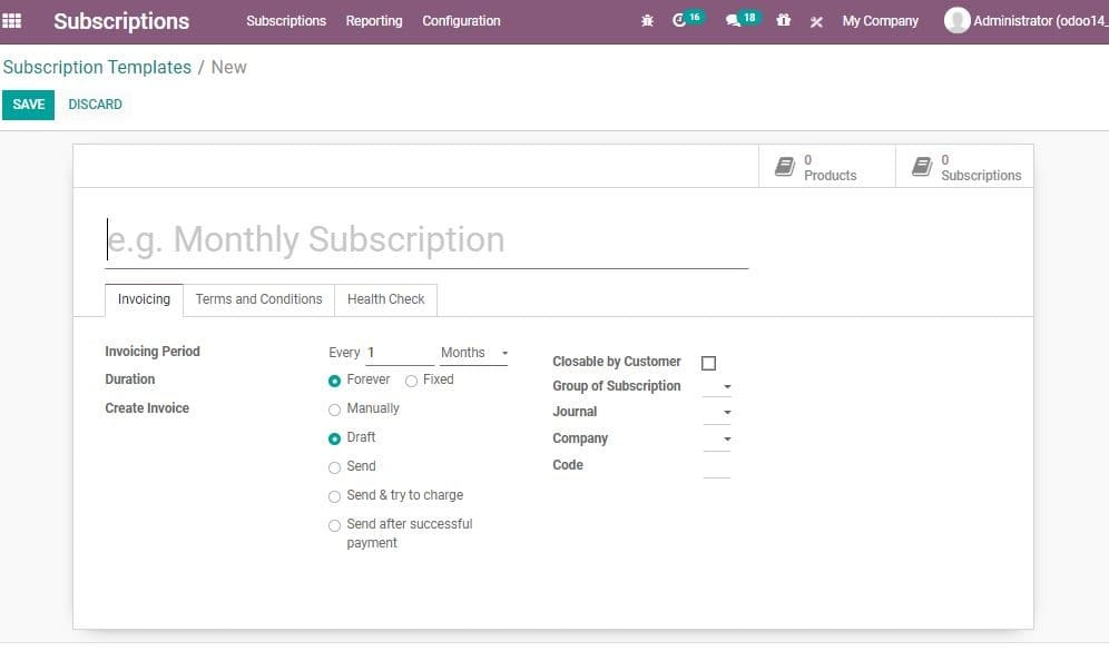 odoo-subscription